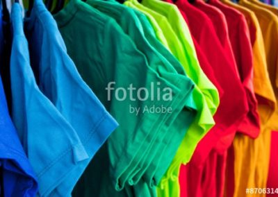 muticolor of T-SHIRT, pattern of rainbow